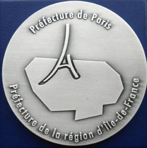 Médaille d'argent Préfecture de Paris et Région Ile de France